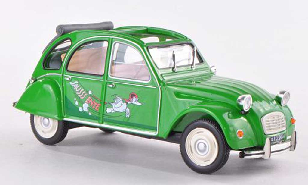 Citroen 2CV 1/43 WhiteBox Sausss Ente 1987 miniature