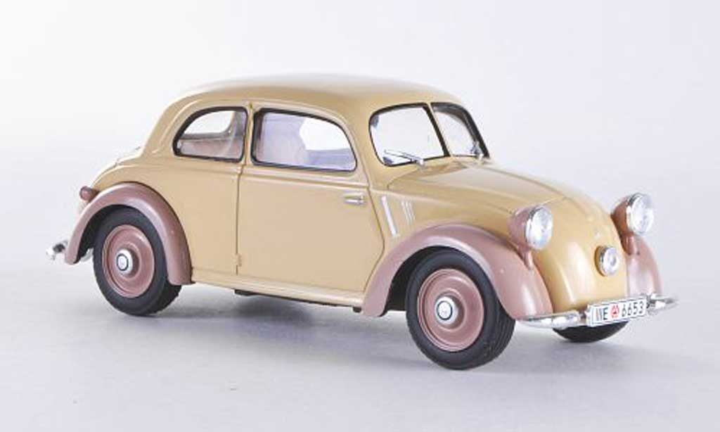 Mercedes 170 1/43 WhiteBox H beige/braun 1938 modellautos