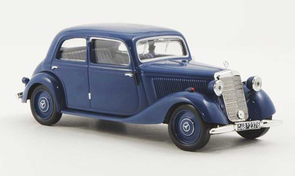Mercedes 170 1/43 WhiteBox V (W136) bleu 1949 miniature