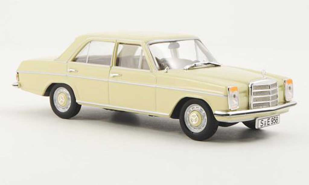 Mercedes 280 1968 1/43 WhiteBox (W115) beige miniature