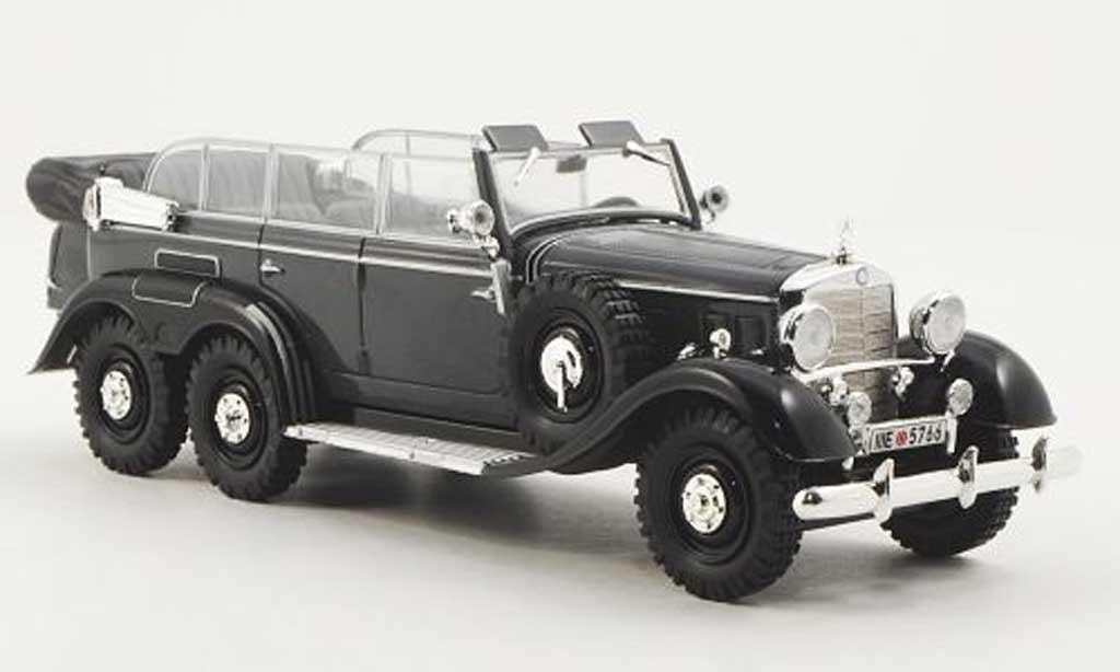 Mercedes G4 1/43 WhiteBox (W31) grise/noire 1938 miniature