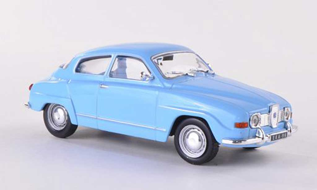 Saab 96 1/43 WhiteBox bleue  miniature