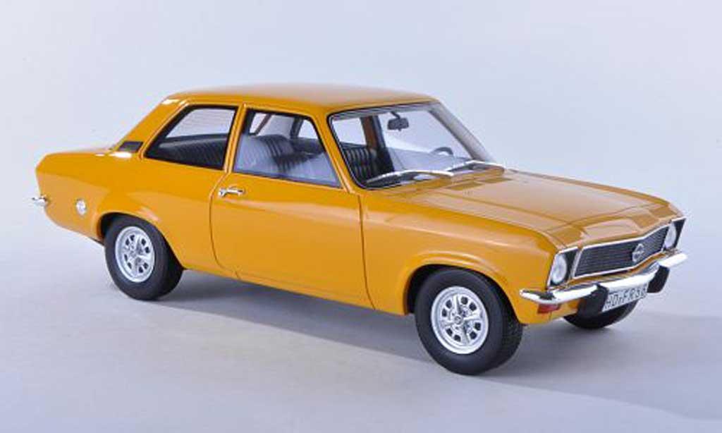 Opel Ascona A 1/18 BoS Models noire-jaune 2-portes limitee edition 1.000 piece 1973 miniature
