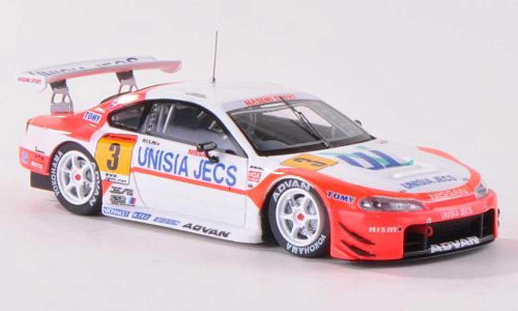 Nissan Silvia 1/43 Ebbro No.3 Unisia Jecs JGTC 2002 T.Yamano/M.Yanagida miniature