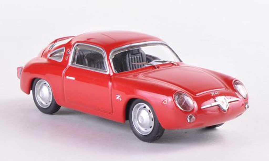 Fiat 750 1/43 Best Abarth Zagato rouge 1958 miniature