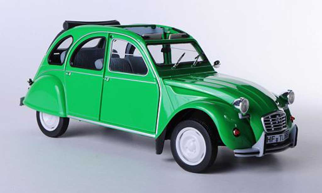 Citroen 2CV V6 1/18 Norev Club green 1987 diecast