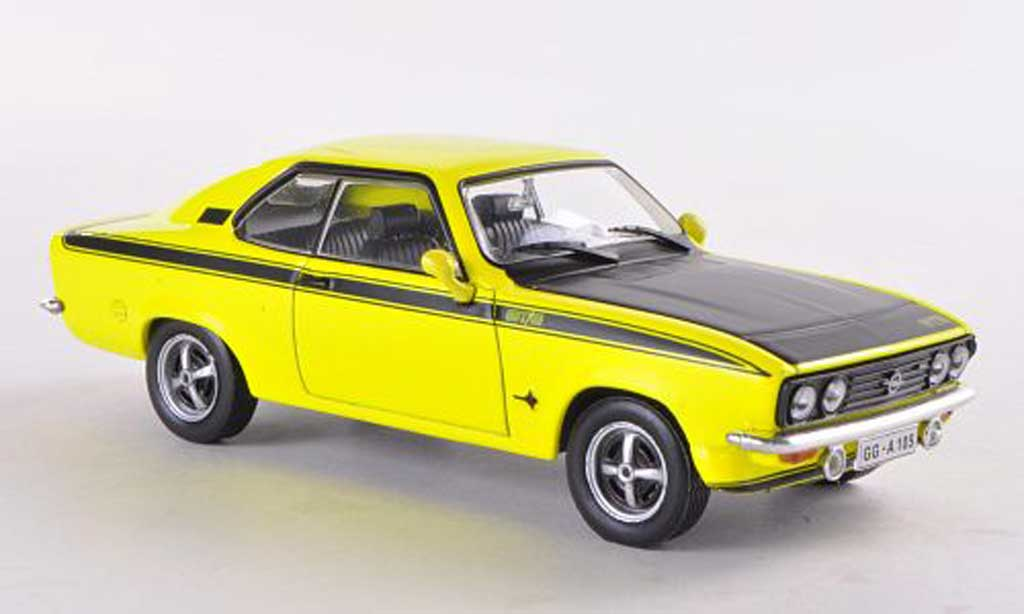 Opel Manta A 1/43 WhiteBox GT/E jaune/noire miniature