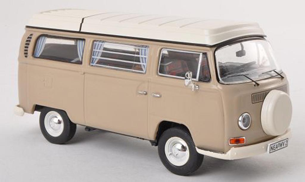 Volkswagen T2 A 1/43 Premium ClassiXXs Camping (neues toit rabattable Ersatzrad) gris miniature