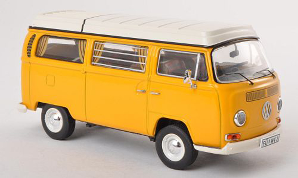 Volkswagen T2 A 1/43 Premium ClassiXXs Camping (neues Faltdach) jaune  miniature