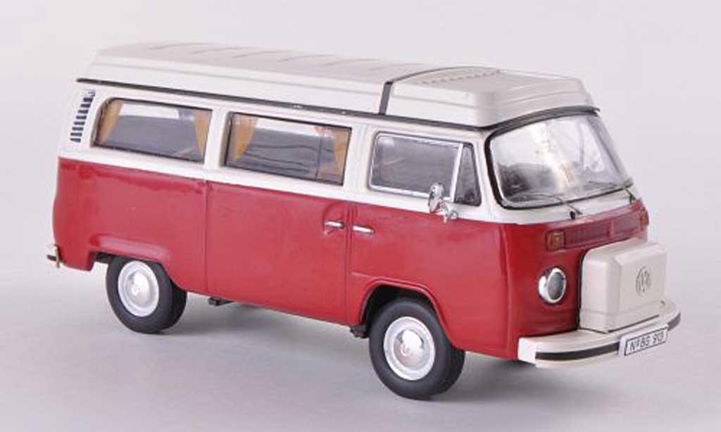 Volkswagen T2 B 1/43 Premium ClassiXXs b Camping Westfalia rouge/beige miniature
