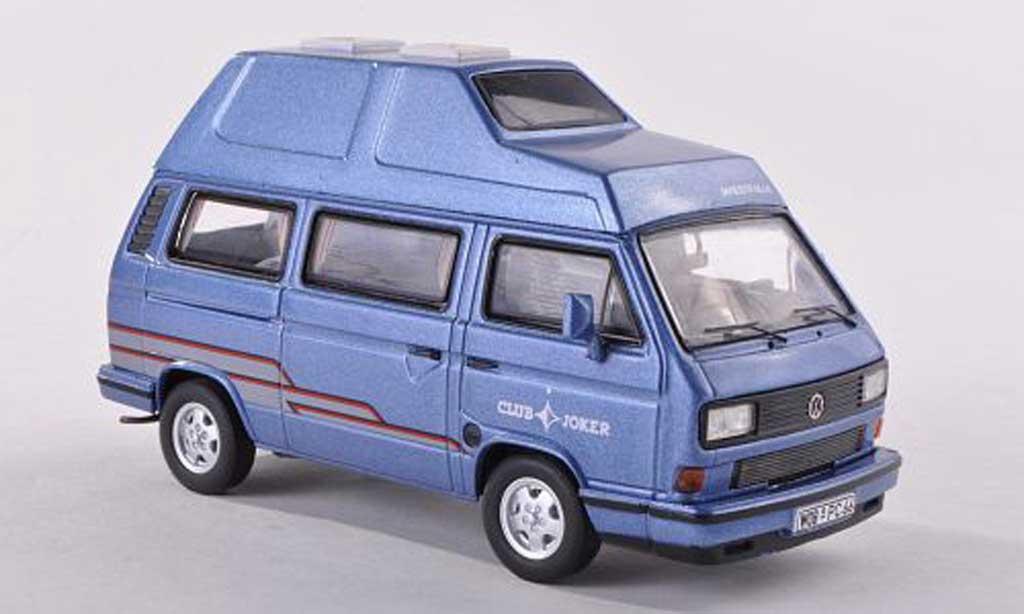 Volkswagen T3 1/43 Premium ClassiXXs Westfalia Clubjoker bleu miniature