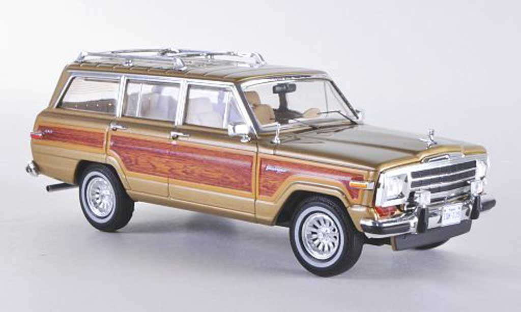 Jeep Wagoneer 1/43 Premium X gold/Holzeffekt Sondermodell limitierte Auflage 500 Stuck 1989 miniature