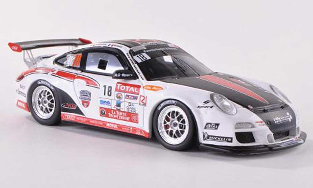 Porsche 997 GT3 RS 1/43 Spark 2012 No.18 Dumas Rallye Team Rally du Var R.Dumas/J.N.Vesperini miniature