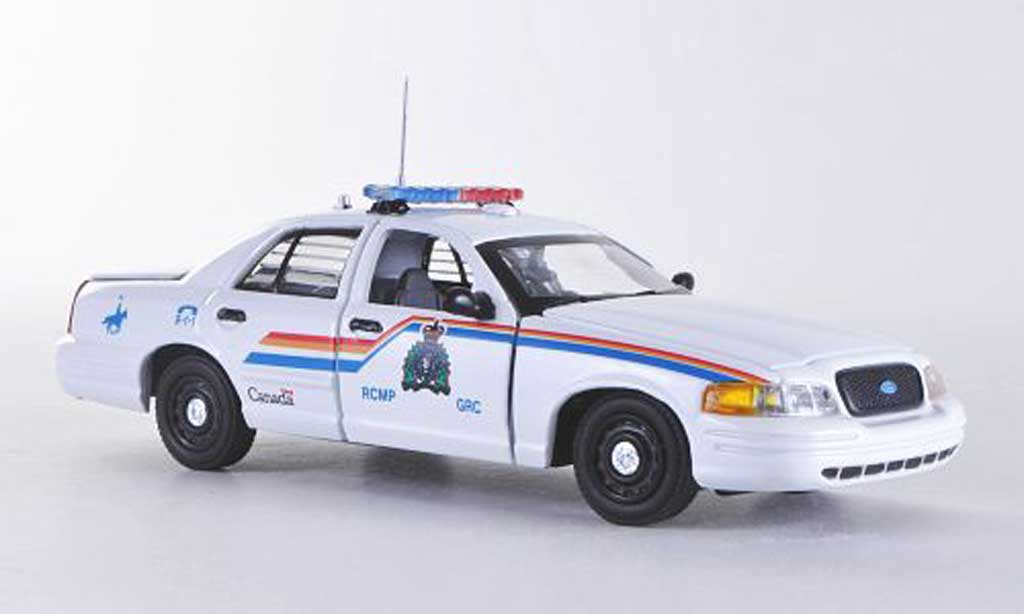 Ford Crown 1/43 First Response Victoria RCMP - Royal Canadian Mounted Police blanche Polizei (CAN)  miniature