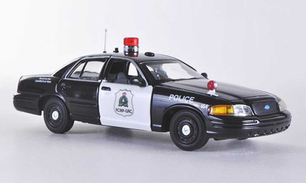 Ford Crown 1/43 First Response Victoria RCMP - Royal Canadian Mounted Police noire/blanche Polizei (CAN)  miniature
