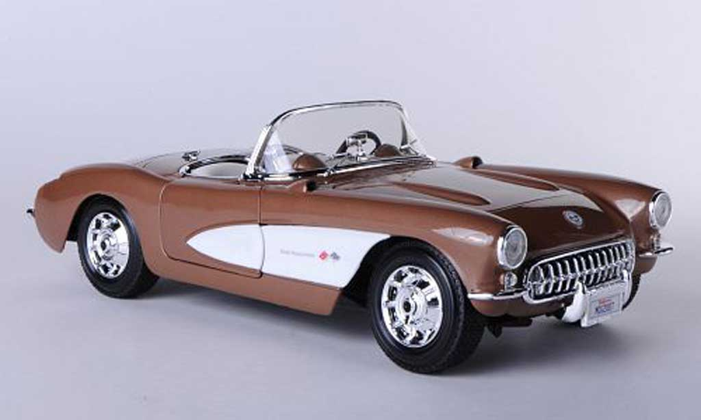 Chevrolet Corvette C1 1/18 Maisto  marron/white diecast model cars
