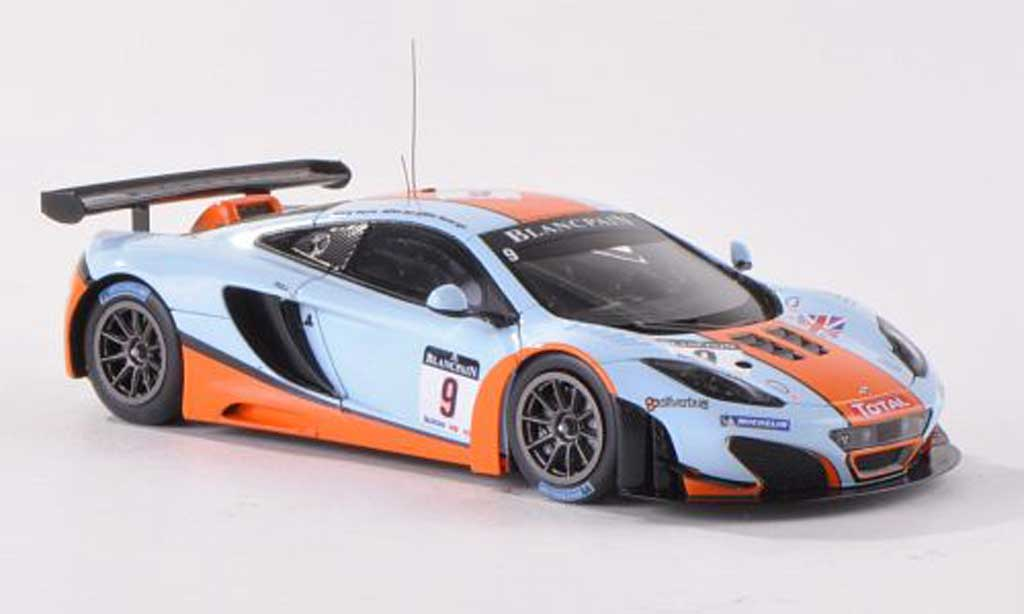 McLaren MP4-12C 1/43 TrueScale Miniatures GT3 No.9 Gulf Racing 24h Spa 2012 R.Bell/A.Meyrick/M.Wainwright diecast model cars