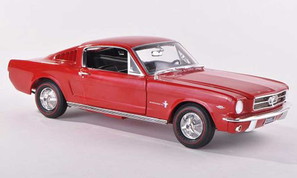 Ford Mustang 1965 1/43 Ertl 1965 2+2 red diecast model cars