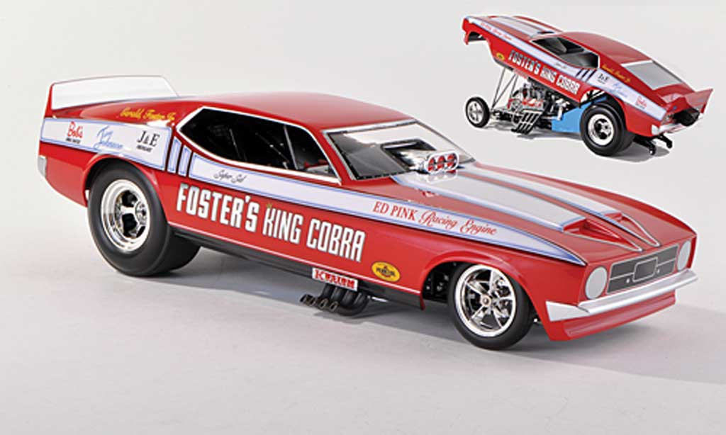 Ford Mustang 1972 1/43 Ertl NHRA Funny Car Foster's King Cobra miniature