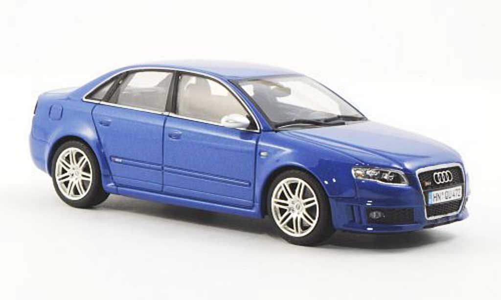Audi RS4 1/43 Minichamps (Typ B7) bleu 2006 diecast model cars