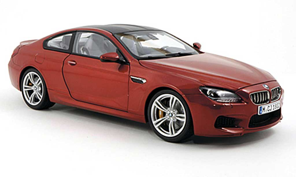 Bmw M6 F13 1/18 Paragon orange/carbon 2012 diecast model cars