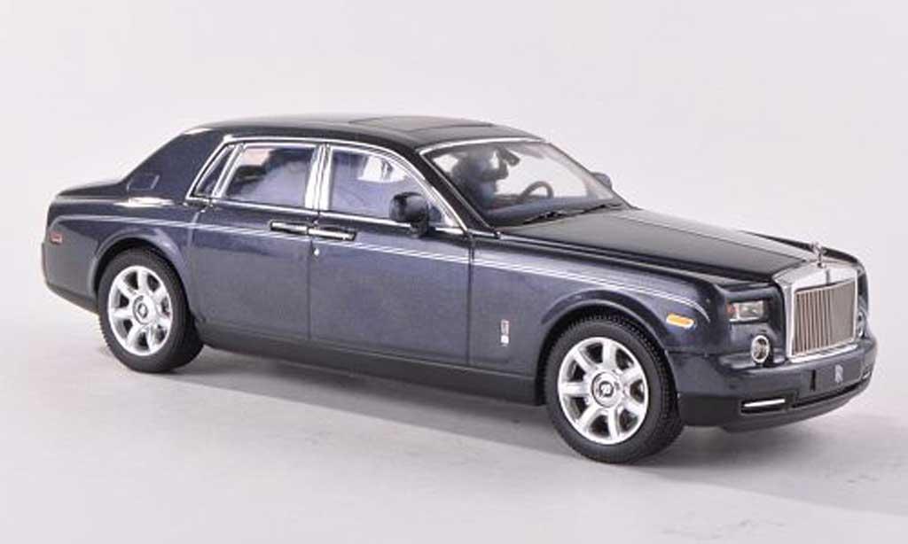 Rolls Royce Phantom 2009 1/43 IXO bleue-grise LHD miniature