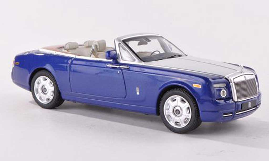 Rolls Royce Phantom 2007 1/43 IXO Drophead Coupe bleue/grise LHD miniature