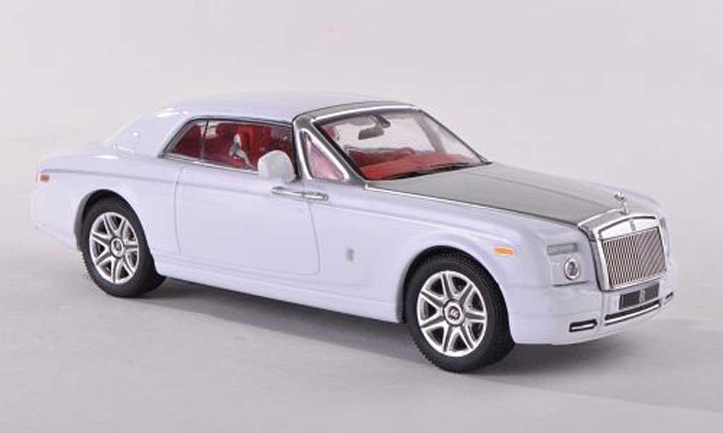 Rolls Royce Phantom 2008 1/43 IXO Coupe blanche/grise miniature