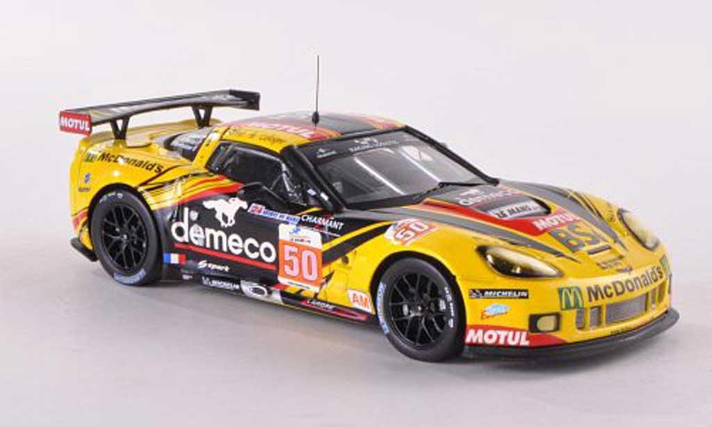 Chevrolet Corvette C6 1/43 IXO ZR1 No.50 demeco/Motul/McDonald s 24h Le Mans 2011 P.Bornhauser/J.Canal/G.Gardel miniature