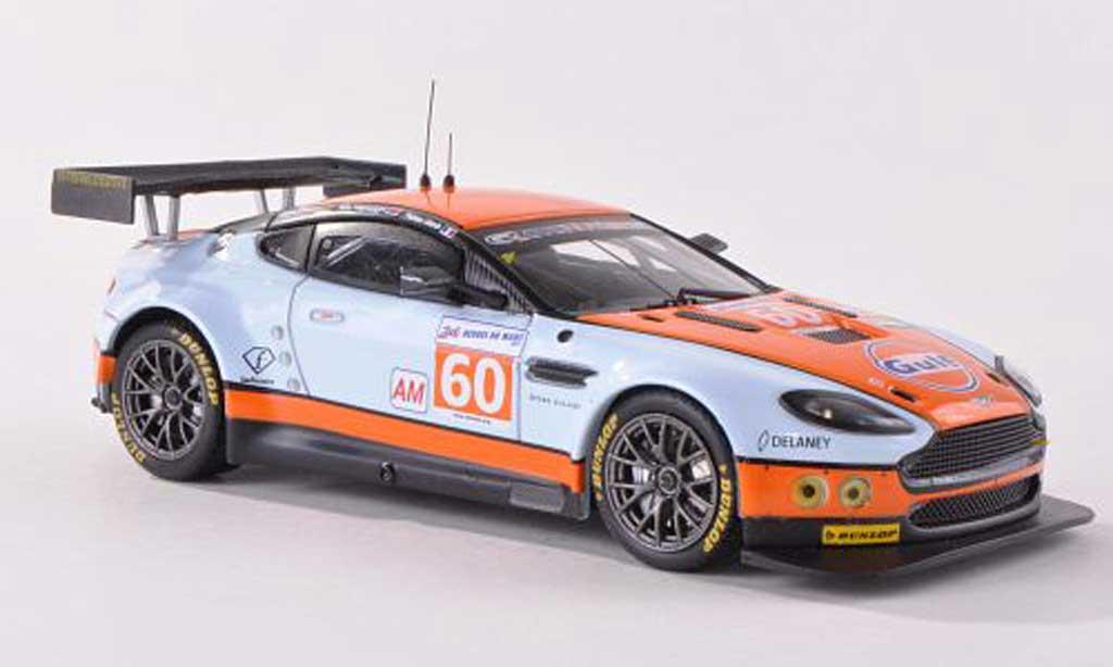 Aston Martin V8 Vantage 1/43 IXO No.60 Gulf Racing 24h Le Mans  2011 F.Giroix/M.Wainwright/R.Goethe  diecast