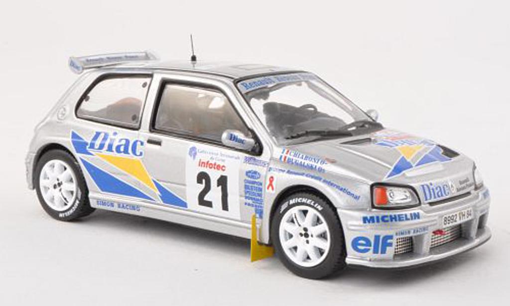 Renault Clio Maxi 1/43 IXO No.21 Diac Tour de Corse 1995 P.Bugalski/J.P.Chiaroni miniature