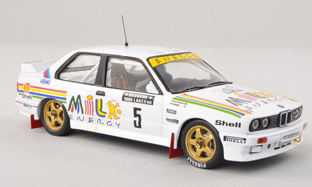 Bmw M3 E30 1/43 IXO No.5 Milk Energy Rally 1000 Lakes 1988 A.Vantanen/B.Berglund miniature
