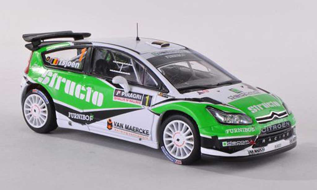 Citroen C4 WRC 1/43 IXO No.1 Structo Rally Wallonien  2011 Tsjoen/Chevaillier miniature