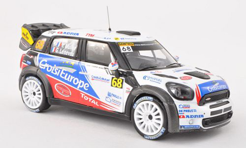 Mini Cooper WRC 1/43 IXO John Cooper Works No.68 Rally France 2012 Y.Muller/G.Leneveu  miniature