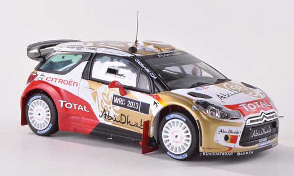 DS Automobiles DS3 WRC 2013 1/43 IXO Abu Dhabi World Rally Team Presentationsfahrzeug diecast