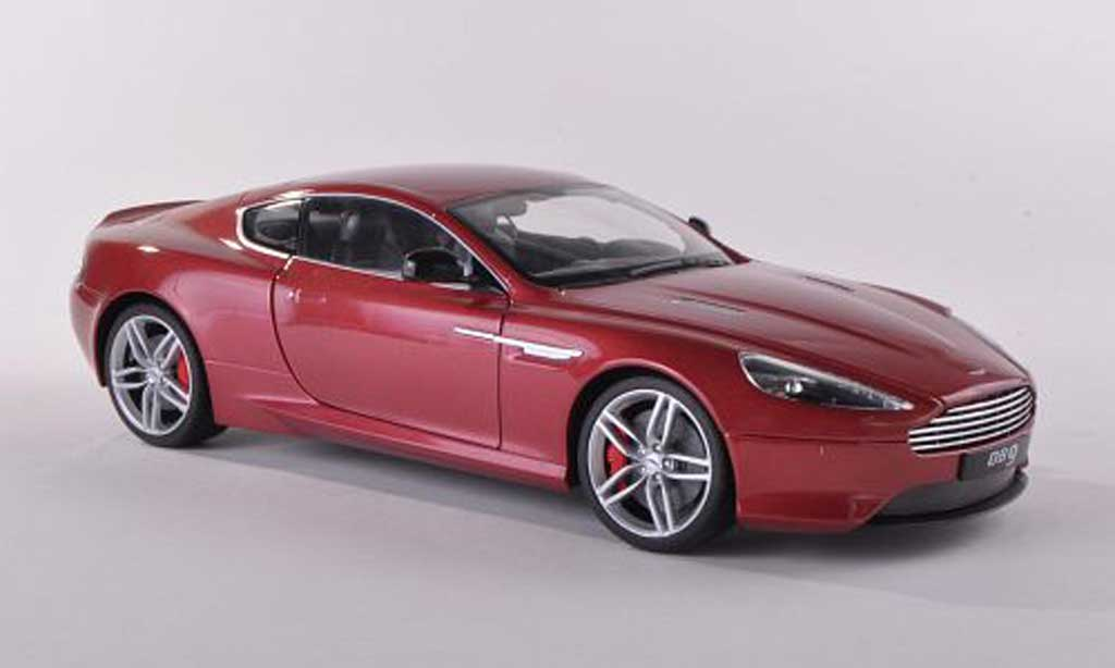 Aston Martin DB9 1/43 Welly Coupe rouge LHD  miniature