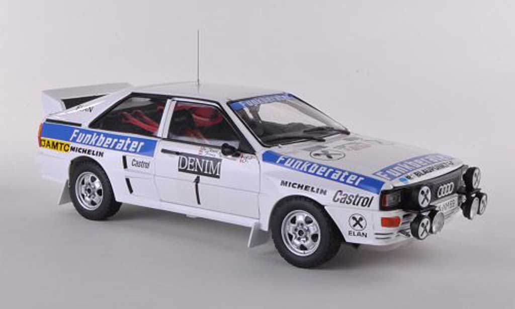 Audi Quattro 1/18 Sun Star A2 No.1 Funkberater Janner Rally 1984 Wittmann/Nestinger diecast