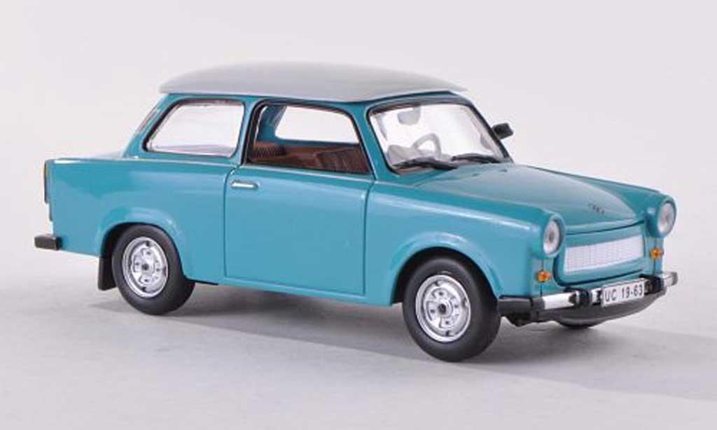 Trabant 601 1/43 IST Models bleu/blanche  miniature
