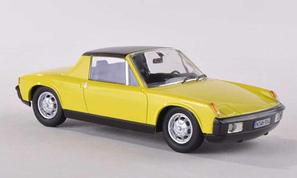 Porsche 914 1/43 Schuco clair-jaune miniature