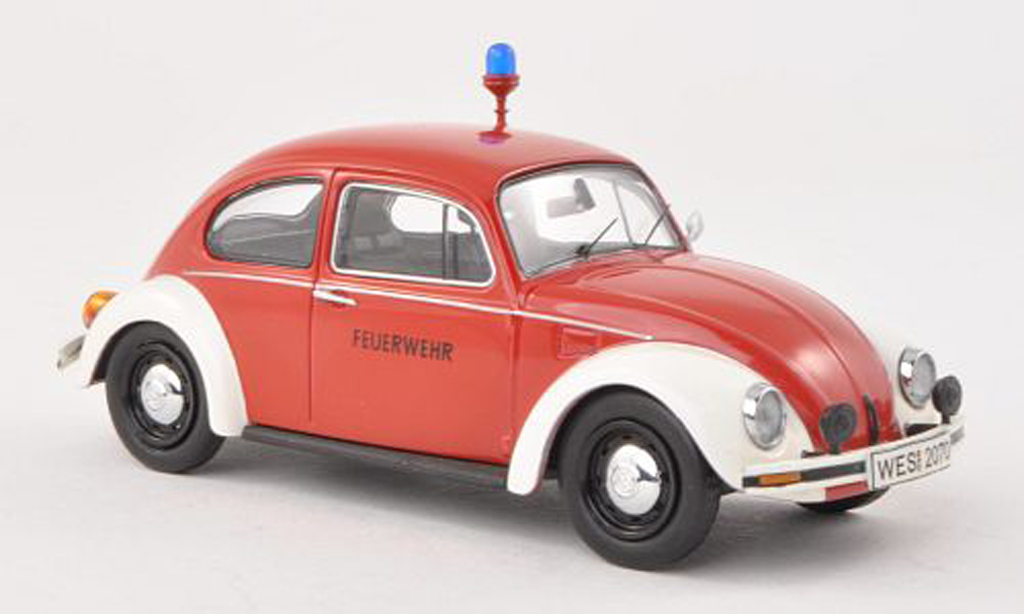 Volkswagen Kafer 1/43 Schuco 1200 pompiers miniature