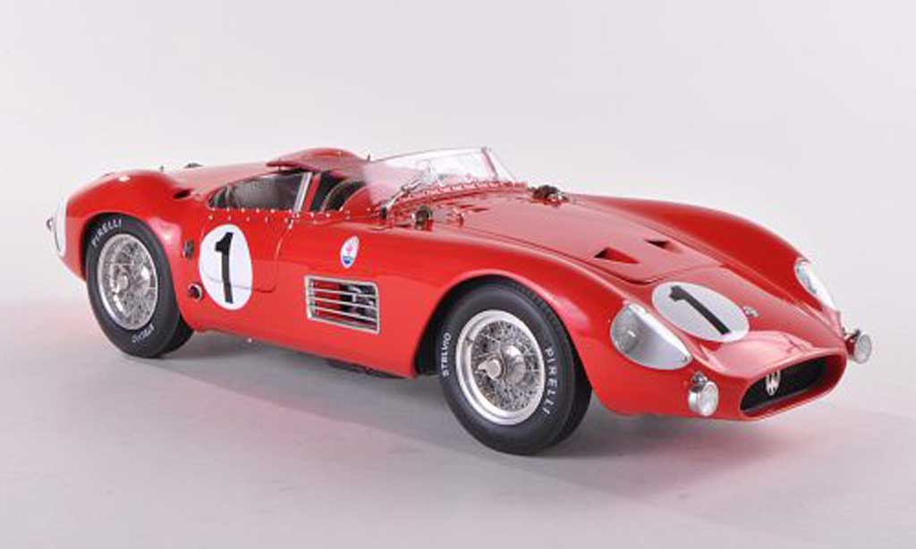 Maserati 300 1/18 CMC S No.1 J.Bonnier/ F.Godia-Sales 24h Frankreich 1958 miniature