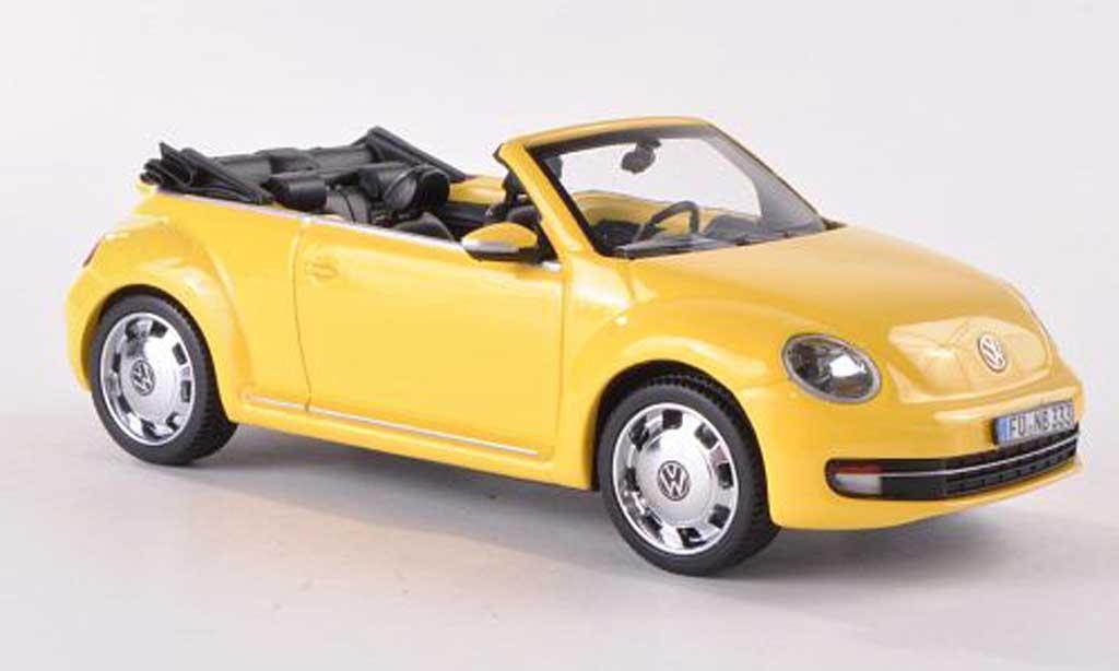 Volkswagen Beetle 1/43 Schuco Cabriolet jaune 2012 miniature