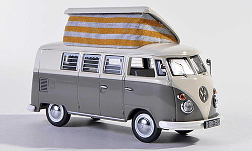 Volkswagen T1 1/43 Schuco Campingbus gray/white  diecast