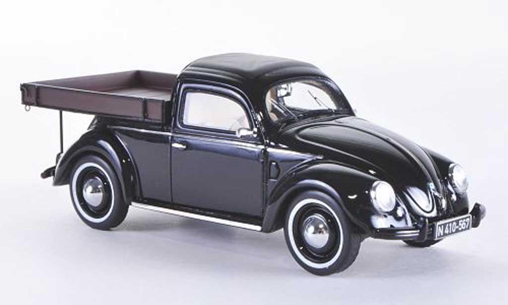 Volkswagen Kafer 1/43 Schuco Beutler-Pritsche black diecast