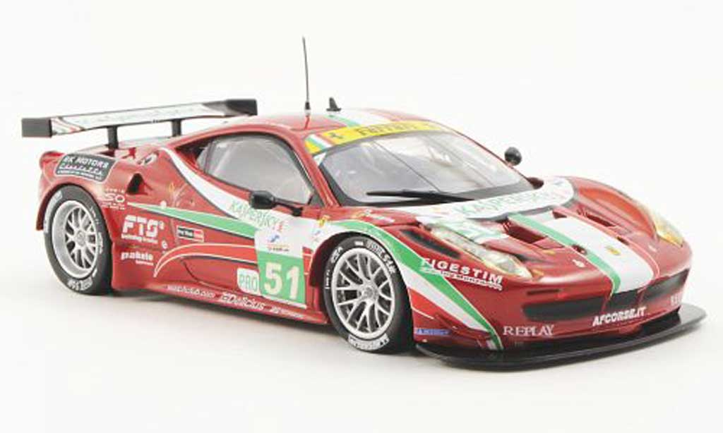 Ferrari 458 Italia GT2 1/43 Ferrari Racing Collection 6h Imola G.Fisica / G.Bruni 2011 miniature