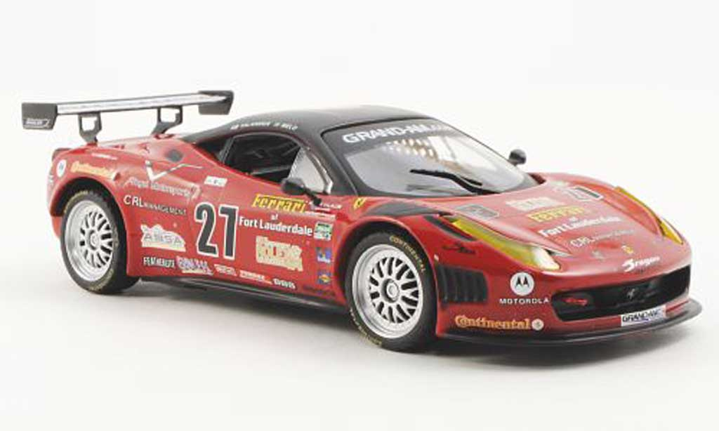 Ferrari 458 Italia 1/43 Ferrari Racing Collection Grand Am Daytona test J.Melo / T.Vilander 2011 diecast