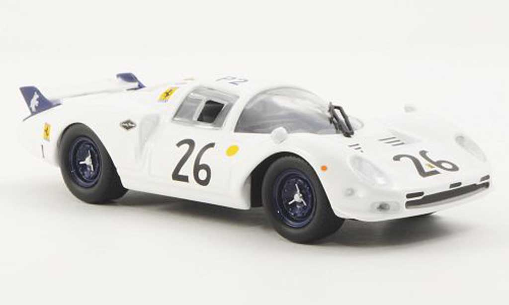 Ferrari 365 P2 1/43 Ferrari Racing Collection Elefante Bianco 24h Le Mans C.Parsons / R.Rodriguez 1967 miniature