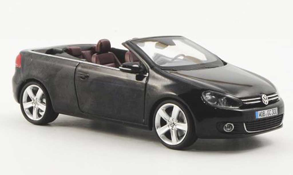 Volkswagen Golf VI 1/43 Schuco Cabriolet noire 2011 miniature