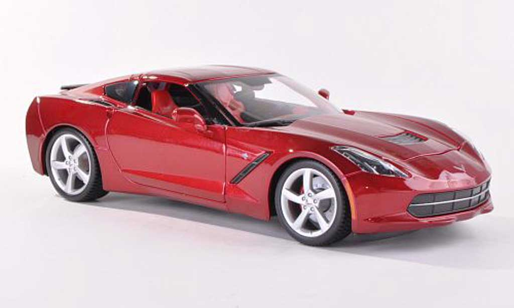 Chevrolet Corvette C7 1/43 Maisto Stingray (C7) black-red diecast
