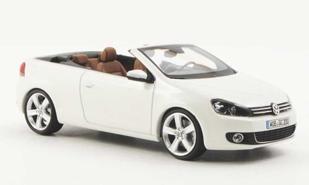 Volkswagen Golf VI 1/43 Schuco Cabriolet blanche 2011 miniature